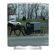 Travelling Into Town Shower Curtain