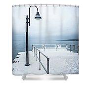 Traverse City Michigan Scenery Around On Lake Michigan Shower Curtain