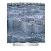 Mammoth Hot Springs Travertine Terraces Two Shower Curtain