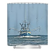 Trawler Homeward Bound Shower Curtain