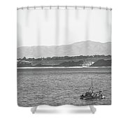 Trawling Monterey Shower Curtain