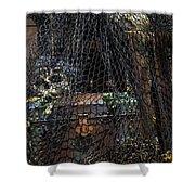 Treasure Chest In Net Shower Curtain