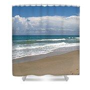 Treasure Coast Beach Florida Seascape C4 Shower Curtain