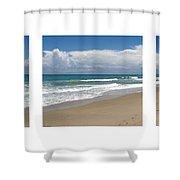 Treasure Coast Beach Florida Seascape C4 Triptych 2 Shower Curtain
