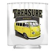 Treasure Hunt Bus Shower Curtain
