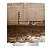 Treasure Hunt Poster Shower Curtain