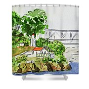 Treasure Island - California Sketchbook Project  Shower Curtain