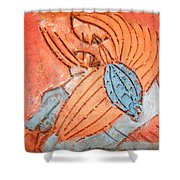 Treasures - Tile Shower Curtain
