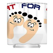 Treat For Your Feet Shower Curtain