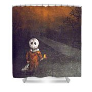 Treat Or Trick Shower Curtain
