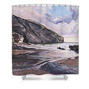 Trebarwith Strand Shower Curtain