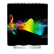 Treble Clef In Motion Shower Curtain