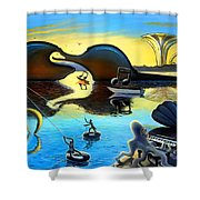 Treble In Paradise Shower Curtain