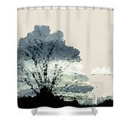 Tree Along The Way Shower Curtain