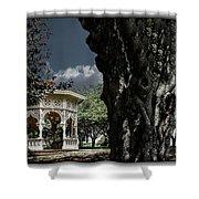 Tree And Gazebo Shower Curtain