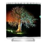 Tree And Moon Shower Curtain