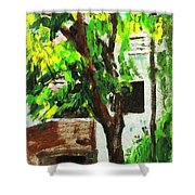 Tree And Shade Shower Curtain