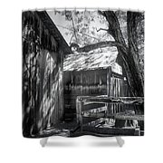 Tree And The Barn Shower Curtain