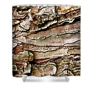 Tree Bark Abstract Shower Curtain