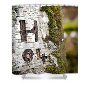 Tree Bark Graffiti - H 04 Shower Curtain