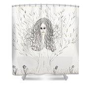 Tree Beauty Shower Curtain