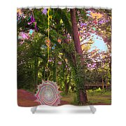 Tree Circus Shower Curtain