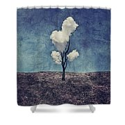 Tree Clouds 01d2 Shower Curtain