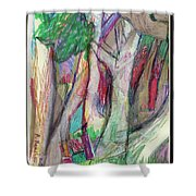 Tree Collage Shower Curtain