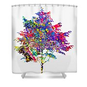 Tree-colorful Shower Curtain