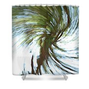 Tree Diptych 1 Shower Curtain