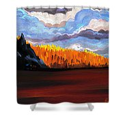 Tree Fall Camping Shower Curtain