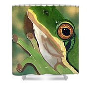 Tree Frog Eyes Shower Curtain