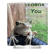Tree Frog Thank You Shower Curtain