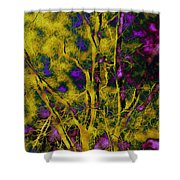 Tree Glow Shower Curtain