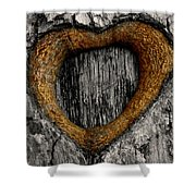 Tree Graffiti Heart Shower Curtain