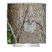 Tree Heart Shower Curtain