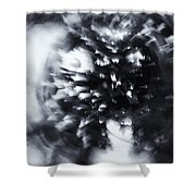 Tree Implosion Shower Curtain