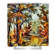 Tree Impression Shower Curtain