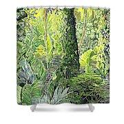 Tree In Garden Shower Curtain