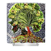 Tree In The Garden On Aluminum Substate Shower Curtain