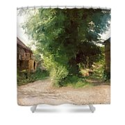 Tree In The Road Shower Curtain