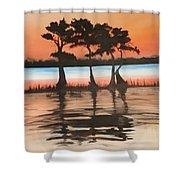 Tree Kings Shower Curtain