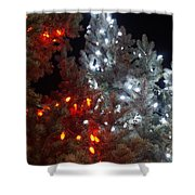 Tree Lights Shower Curtain