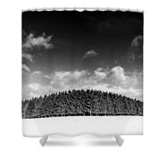 Tree Line In Winter Shower Curtain