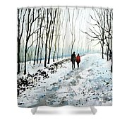 Tree Lined Stroll Shower Curtain