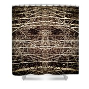 Tree Mask Shower Curtain