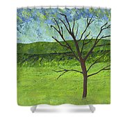 Tree No Leaves Shower Curtain