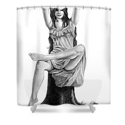 Tree Nymph Shower Curtain
