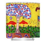 Tree Of Freedom And Glory Shower Curtain