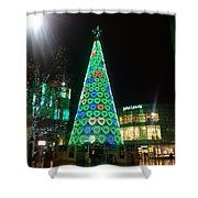 Tree Of Hearts In Green Shower Curtain